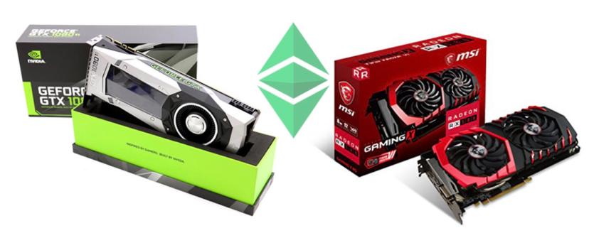 Nvidia and AMD GPU cards used in ETC Mining